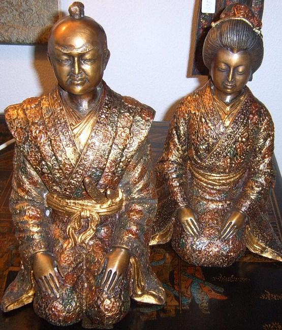 Samurai par i bronze